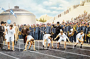 Athletics at the 1896 Summer Olympics – Men's 100 metres - Image: 100m sprint 1896 Olympics
