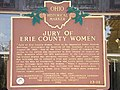 101 0453 jury of erie county women state hist'l marker, sandusky ohio.JPG