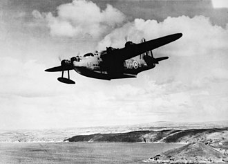 No. 10 Squadron RAAF - No. 10 Squadron Sunderland sets out on patrol in 1941