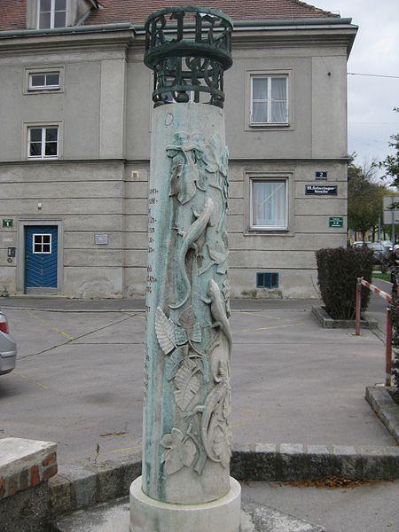 File:1190 Grinzinger Straße 2 - Wegsäule Geschichte Grinzings von Leopold Hohl 1960 IMG 5695.jpg