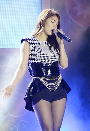 "Ailee - Ailee performing ""U&I"", 2013."