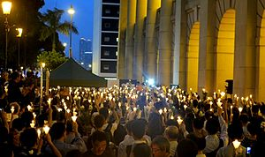Death of Li Wangyang - A candlelight vigil was held to commemorate the seventh day of Li's death.