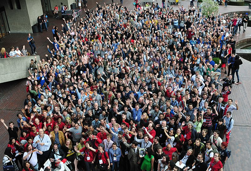Wikimania 2014 from above