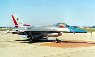149th Fighter Squadron - 149th Fighter Squadron F-16C 86-0244 in World War II 328th Fighter Squadron markings during 50th anniversary of unit, 1997