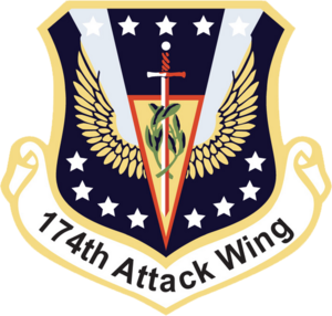 274th Air Support Operations Squadron - Image: 174th Attack Wing Emblem