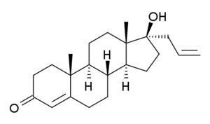 Allyltestosterone - Image: 17a allyltestosterone structure