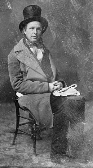 Horace Greeley - Photograph of Greeley by Mathew Brady, taken between 1844 and 1860