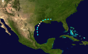 1886 Atlantic hurricane season - Image: 1886 Atlantic hurricane 1 track