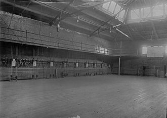 "Kentucky Wildcats men's basketball - State College Gymnasium ""The Gymnasium"" first home basketball court used by the Kentucky Wildcats men's basketball team in 1902."