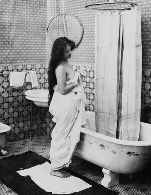 Modern convenience - Turn of the twentieth century bathroom.
