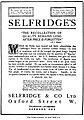 19090619 Selfridge's ad - The Recollection of Quality - The Times (London) p4.jpg