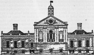 Chelsea Register Office - Chelsea Old Town Hall, the location of the register office, from Encyclopædia Britannica, 1911