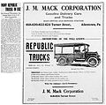 1917 - J M Mack Corporation Newspaper Ad Allentown PA.jpg