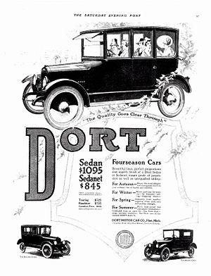 Josiah Dallas Dort - Image: 1918 Dort Sedan and Sedanet (6113179245)