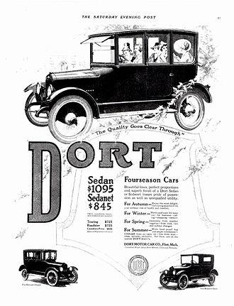 Dort Motor Car Company - 1918 Dort sedan and sedanet