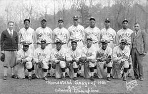 Cyclone Joe Williams - Williams (standing, center) with 1931 Grays