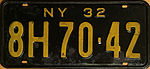 1932 New York license plate 01.JPG