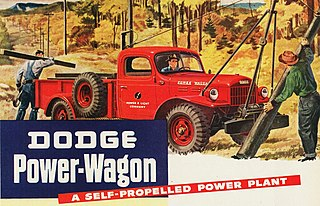 four wheel drive light truck manufactured by Dodge
