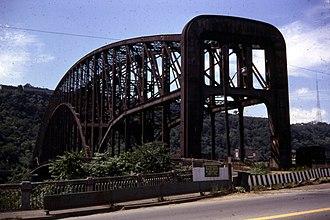 Point Bridge (Pittsburgh) - Point Bridge at Fort Pitt Blvd. in 1968