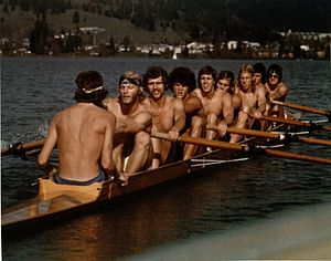 University of Oregon rowing team - Image: 1975 Mens Varsity Eight University of Oregon