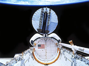 STS-32 - The Syncom IV-F5 satellite is deployed.