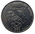 1 песо . Куба. 1990. Чемпионат мира по футболу 1990 в Италии. чемпион Германия.jpg