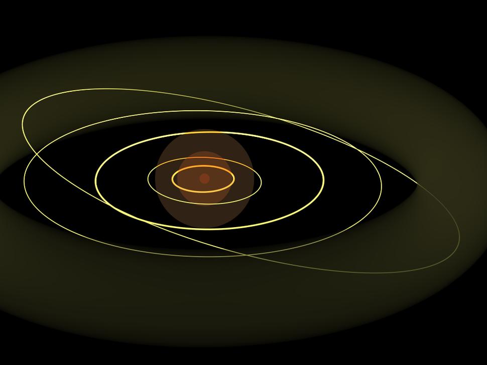 1e12m comparison Kuiper belt and smaller