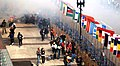 1st Boston Marathon blast seen from 2nd floor and a half block away - immediately after blast.jpg