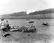 1st Infantry Division, crossing the Weser River