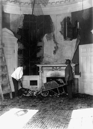 Hoover desk - The first Oval Office after the Christmas eve West Wing fire of 1929