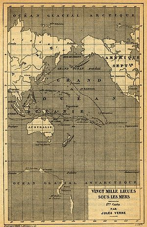 Twenty Thousand Leagues Under the Sea - Image: 20000 map 1