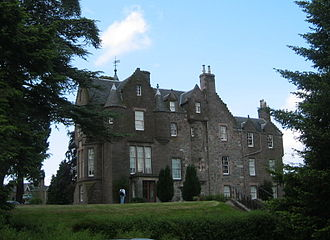 Balhousie Castle - The eastern façade of the castle, which overlooks the North Inch