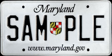 2005 Maryland Sample License Plate