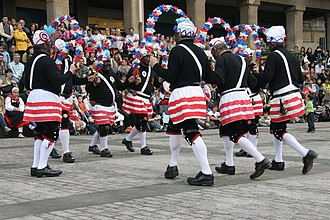 Bacup - The Britannia Coconut Dancers are an English folk dance troupe based in Bacup