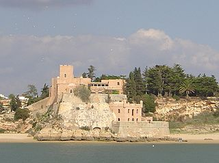 Fort of São João do Arade building in Ferragudo, Faro District, Portugal