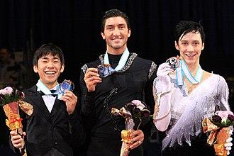 2009–10 Grand Prix of Figure Skating Final - The men's podium for the 2009–10 Grand Prix Final.