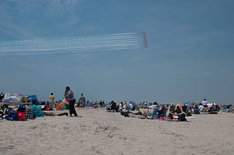 Meadowbrook State Parkway - The beach at Jones Beach State Park, for which the Meadowbrook was constructed to serve drivers from New York City