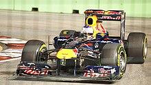 Photo de Sebastian Vettel à Singapour