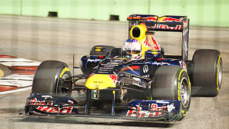 2011 Singapore Grand Prix - Sebastian Vettel took his ninth victory of the season by 1.7 seconds from Jenson Button, and nearly half a minute in front of teammate Mark Webber.