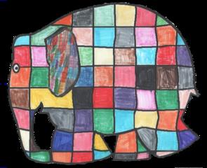 Patchwork-Elefant