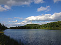 2014-08-28 17 15 20 View of High Point, New Jersey from the shore of Lake Marcia.JPG