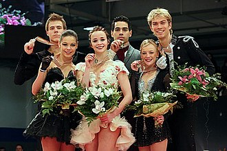 European Figure Skating Championships - The 2014 medalists in the ice dance event