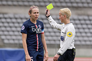 Paris Saint-Germain Féminines - Sabrina Delannoy is the club's record appearance maker in the UEFA Women's Champions League.
