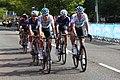 2018 Tour of Britain stage 1 173 Lukas Wisnioswski, 176 Ian Stannard, 141 Alex Paton, 143 Dexter Gardias and 2.JPG