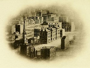 Isaac Newton Phelps - Early view (c1855) of 229 (now 231) Madison Avenue before the street was paved