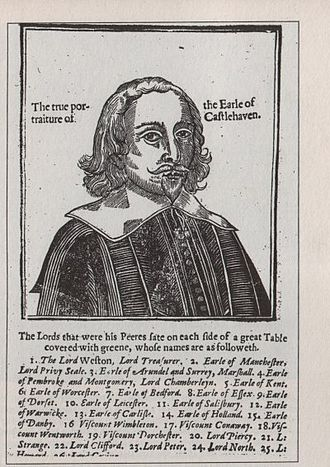 Mervyn Tuchet, 2nd Earl of Castlehaven - The 2nd Earl of Castlehaven, from a contemporary print published in the wake of his notorious trial.