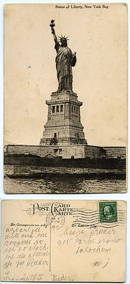 33 Statue of Liberty New York Bay 1-2-1911