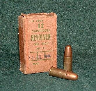 .38 S&W - Image: 380Revolver Mk I Iz Cartridges