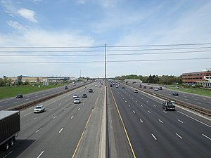Transportation in Toronto - Highway 401 as seen from the McCowan over pass looking west