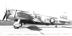 47th Fighter-Interceptor Squadron Republic F-47D-40-RA Thunderbolt 45-49431 1952.jpg